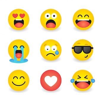 Vector conjunto de iconos de emociones emoción de colección