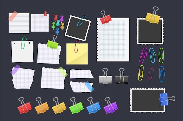 Vector conjunto de iconos de suministros escolares y de oficina, herramientas de oficina