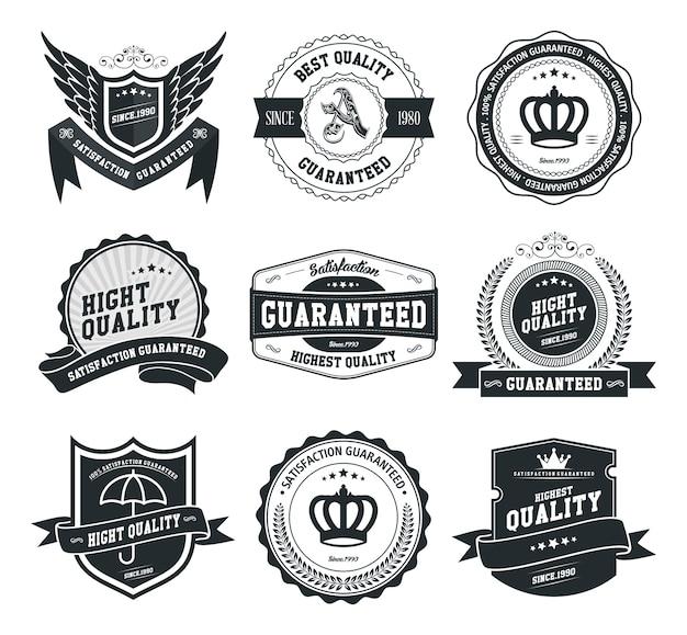 Vector conjunto de insignias y etiquetas