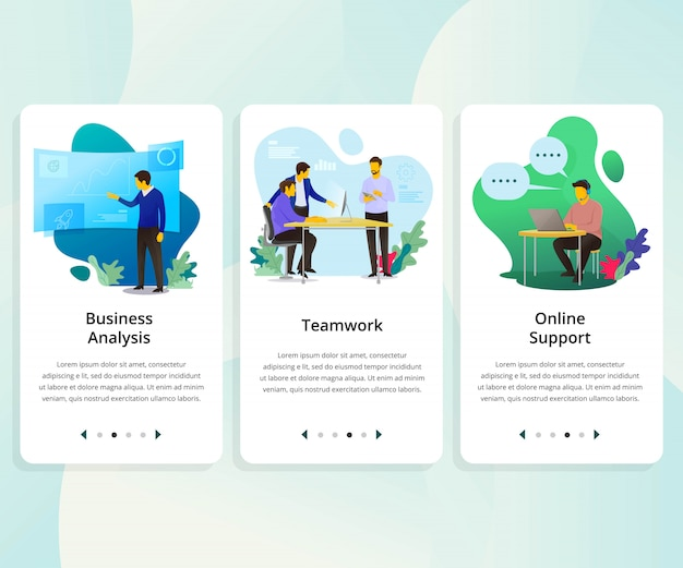 Vector conjunto de interfaz de usuario kit para negocios