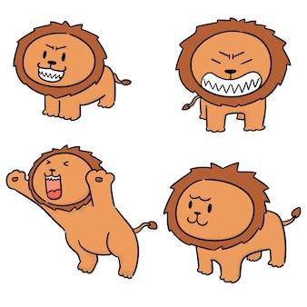 Vector conjunto de leones