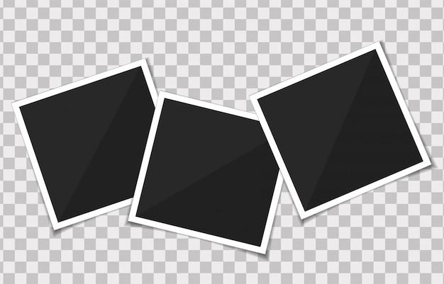 Vector conjunto de marco de fotos de plantilla