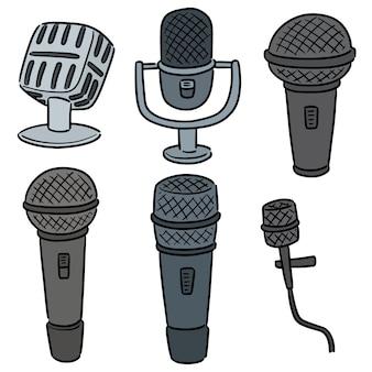 Vector conjunto de micrófono