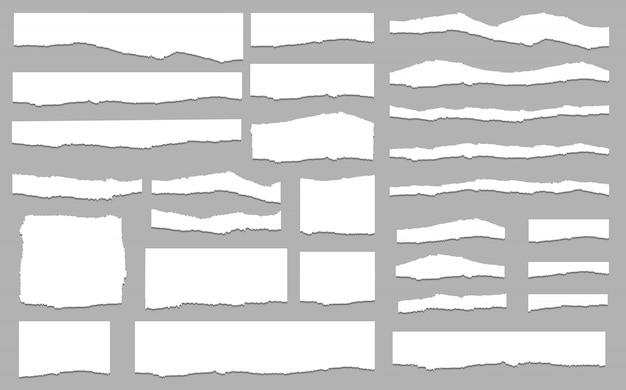 Vector de conjunto de papel rasgado, en capas. ilustración vectorial