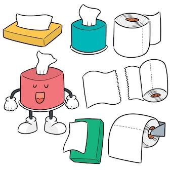 Vector conjunto de papel de seda