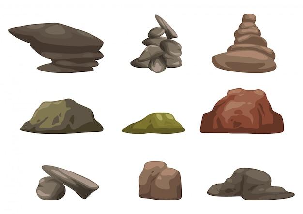 Vector conjunto de piedra