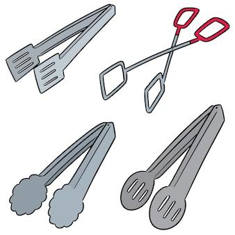 Vector conjunto de pinzas