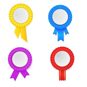 Vector conjunto de roseta de premio de colorfull.