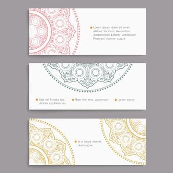 Vector conjunto de tarjetas con estilo