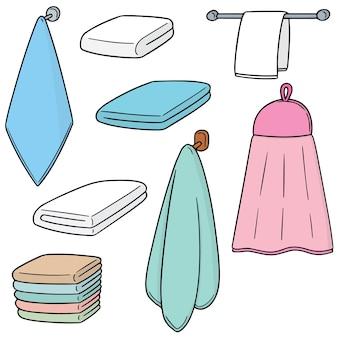 Vector conjunto de toalla de mano