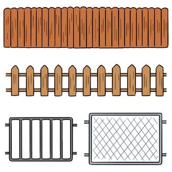 Vector conjunto de valla