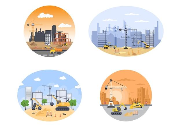 Vector de construcción de bienes raíces