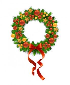 Vector corona de navidad