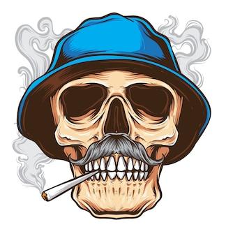 Vector de cráneo de bigote