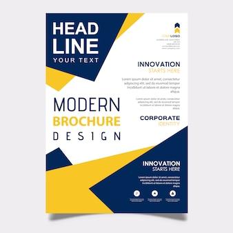 Vector creativo folleto plantilla de diseño