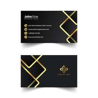 Vector creativo de la tarjeta de visita de oro