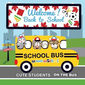 Vector de dibujos animados de regreso a la escuela