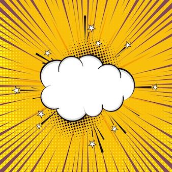Vector de diseño de fondo abstracto cómico