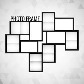 Vector de diseño de plantilla de marco de foto
