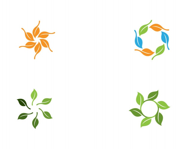 Vector de ecología logo naturaleza elemento