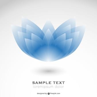 Vector de flor abstracta azul