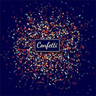 Vector de fondo abstracto colorido confeti