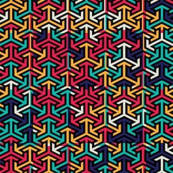 Vector de fondo abstracto patrón colorido