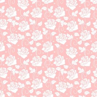 Vector de fondo sin fisuras de la flor. textura elegante para fondos. ornamento floral pasado de moda de lujo clásico, textura transparente para fondos de pantalla, textil, envoltura.