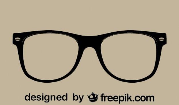 Vector de gafas retro