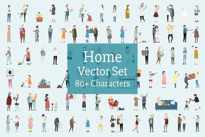 Vector de hogar y familia