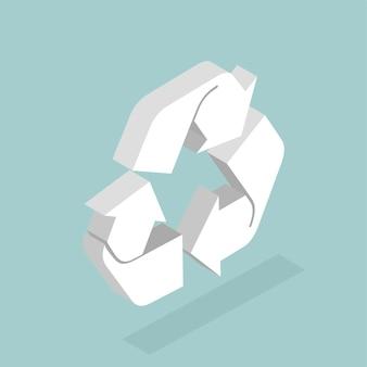 Vector de icono de reciclaje