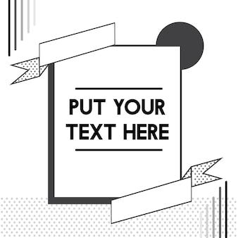 Vector de ilustración de pancartas de plantilla