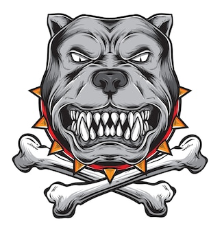 Vector de ira de bulldog