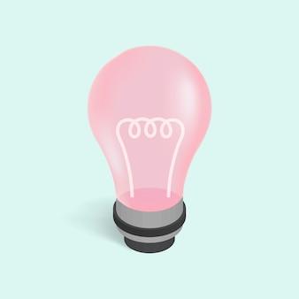 Vector de la imagen de un icono de bombilla