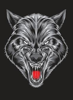 Vector de lobo despiadado