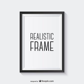 Vector de marco realista