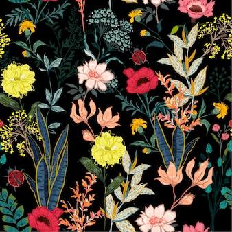 Vector de patrones sin fisuras de flor