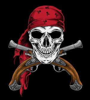 Vector de pistola pirata
