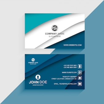 Vector de plantilla de diseño moderno colorido tarjeta de visita