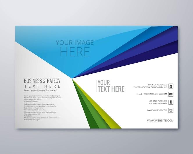 Vector de plantilla de folleto comercial creativo abstracto