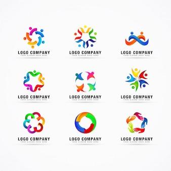 Vector de plantilla de logotipo de colección
