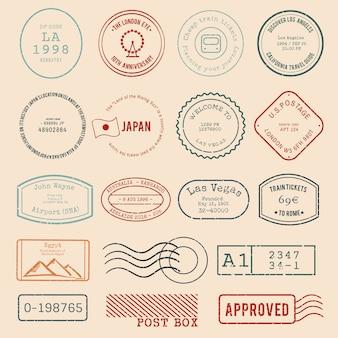 Vector de varios diseños de sellos