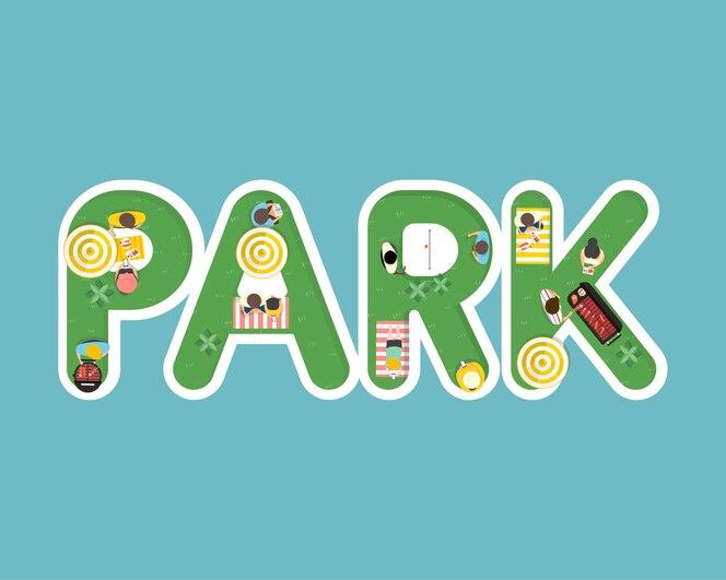 Vector de verano siente diseño con la palabra park