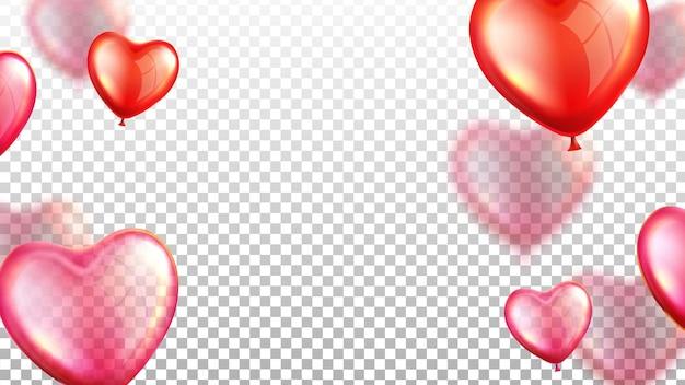 Vector de decoración de día de boda de globos de aire voladores