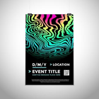 Vector degradado vibrante colores formas abstractas dinámico moderno cartel diseño plantilla moda folleto maqueta invitación diseño de volante mínimo creativo fondo oscuro en la pared