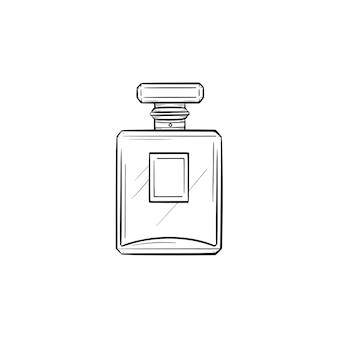 Vector dibujado a mano perfume contorno doodle icono. ilustración de boceto de perfume para impresión, web, móvil e infografía aislado sobre fondo blanco.