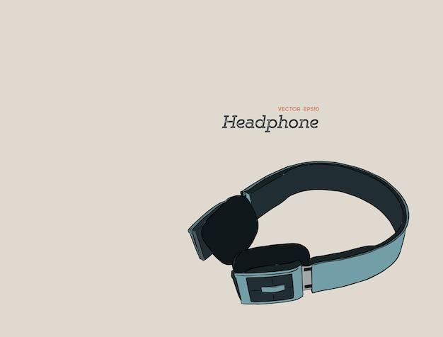 Vector de dibujo de auriculares