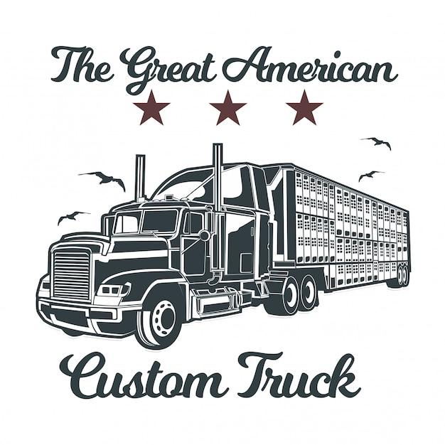 Vector de dibujo de mano de camión grande
