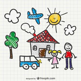 Vector dibujo de niño