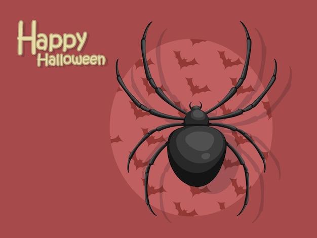 Vector de dibujos animados de araña halloween sobre fondo.concepto de truco o trato